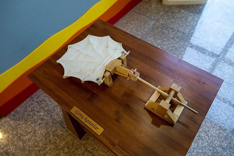 eskisehir sazova bilim deney muzesi leonardo modeli