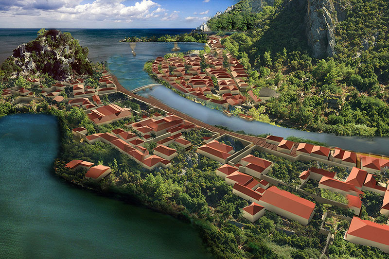 olympos antik kenti boyutlu modellemesi
