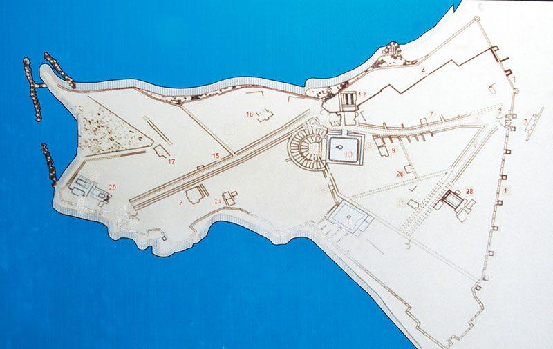 side antik kenti plani