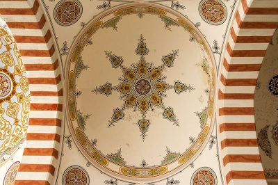 edirne uc serefeli camii tavan suslemeleri 400x266