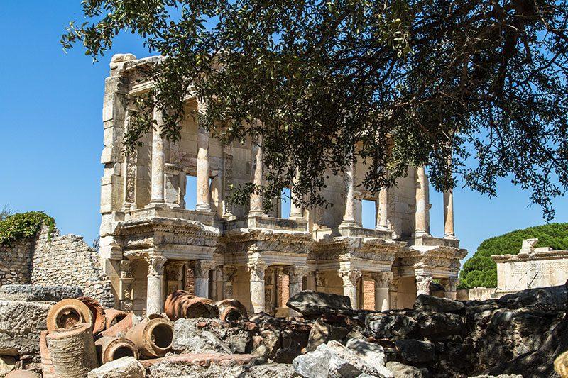 efes antik kenti celsus kitapligi gezisi