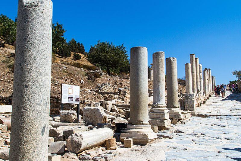 efes antik kenti celsus kuretler caddesi