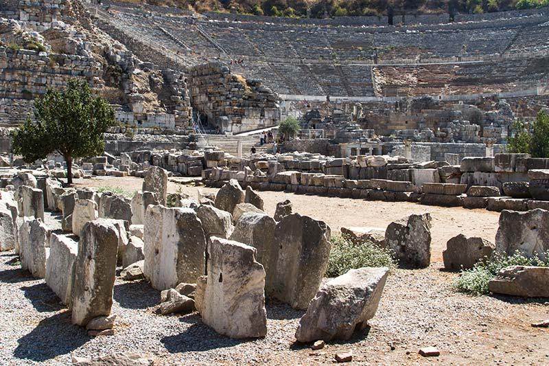 efes antik tiyatro giris