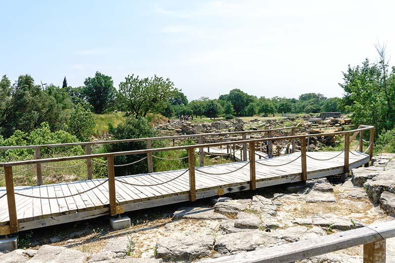 truva antik kenti yurume platformu