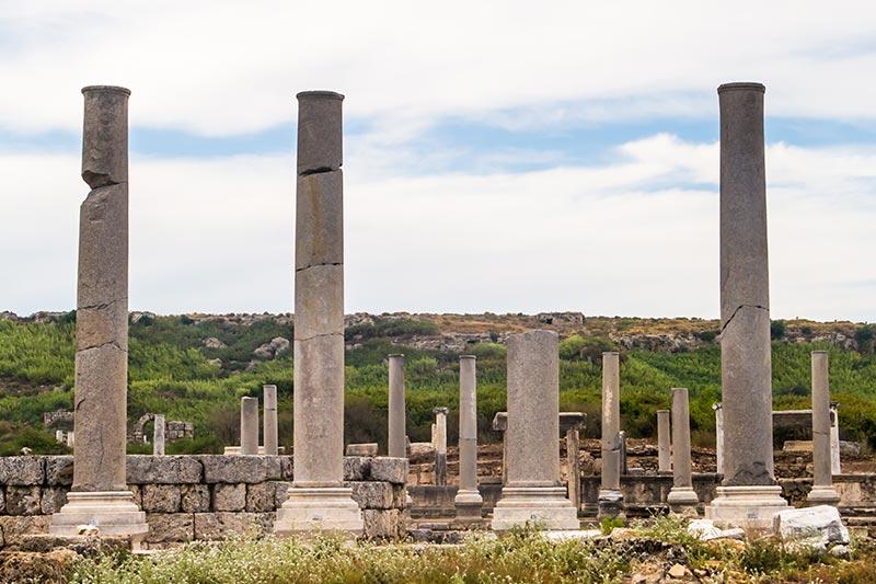 perge antik kenti parlakdonemler