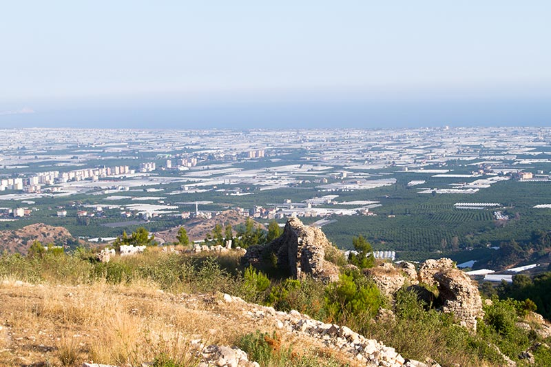 rhodiapolis antik kenti manzara