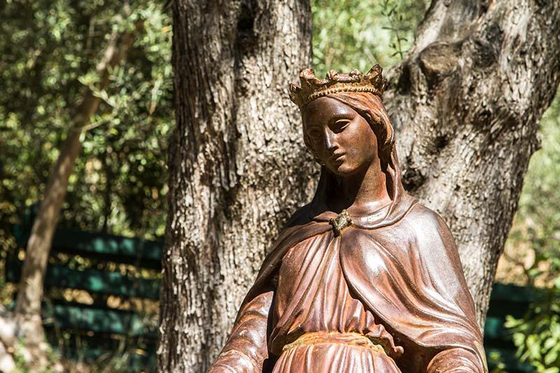meryem ana evi bronz heykel