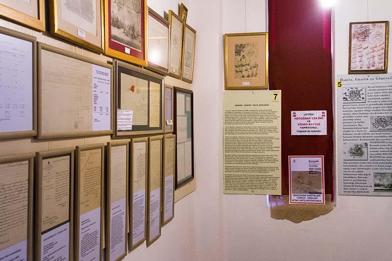 bozcaada muzesi tarihi yazismalar