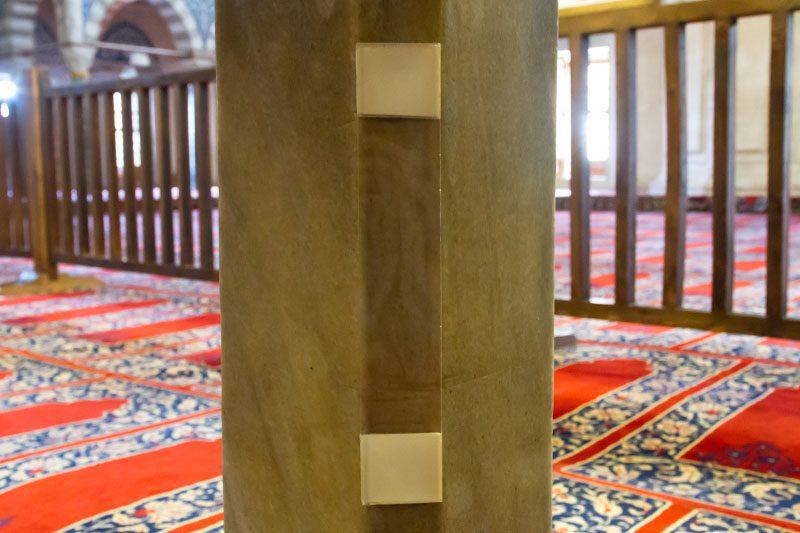 edirne selimiye camii ters lale motifi