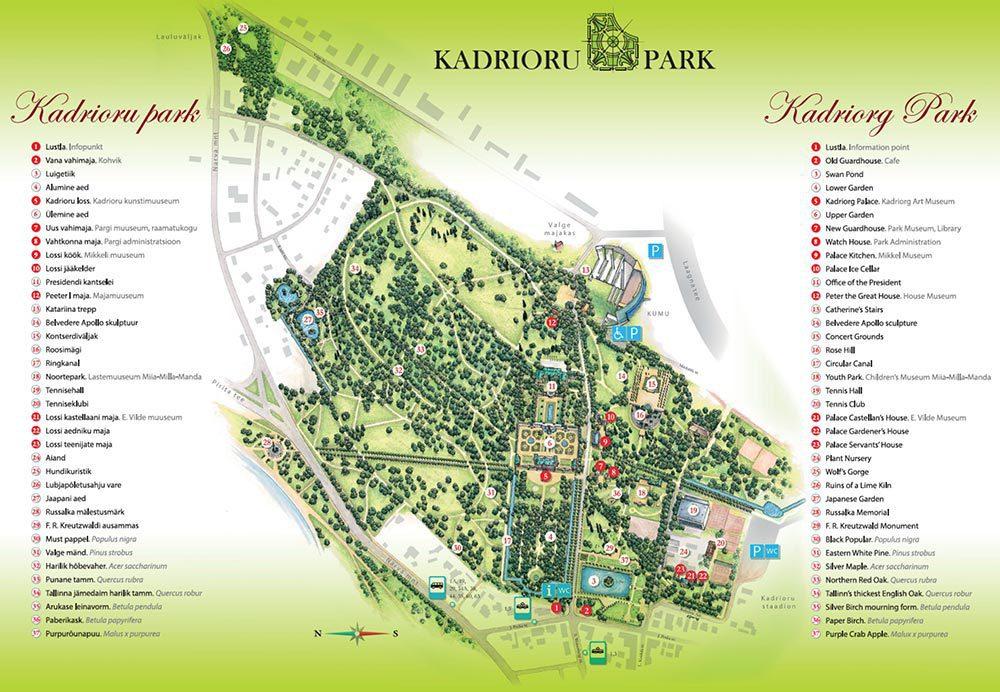 kadriorg park map