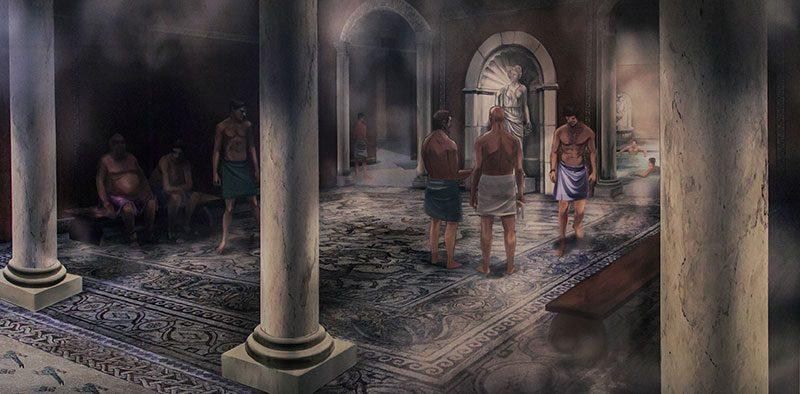 antakya arkeoloji muzesi roma hamami resmi