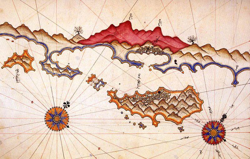 kekova gezi rehberi piri reis harita