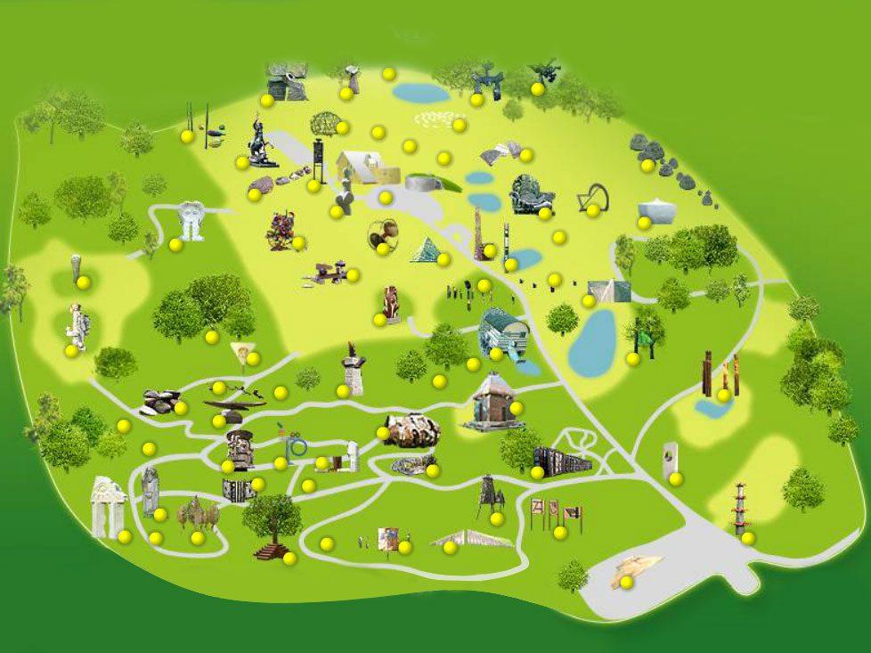 europos parkas haritas map