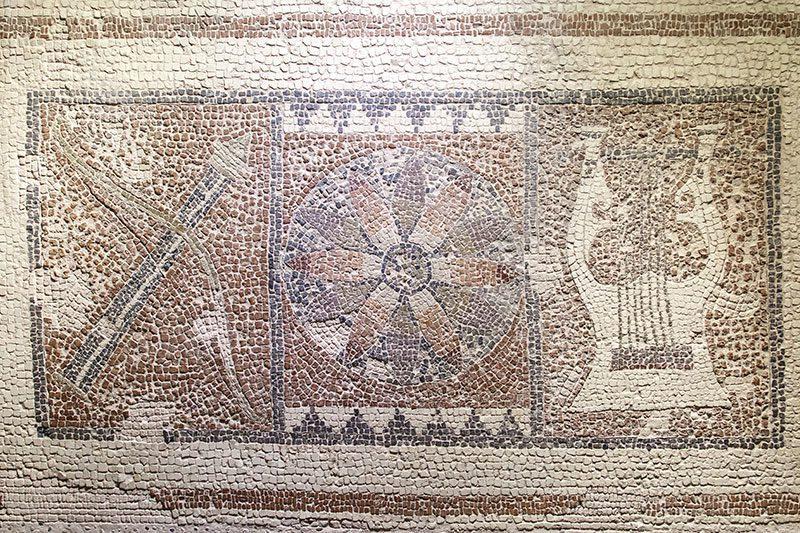 fethiye muzesi letoon antik kenti apollon mozaigi