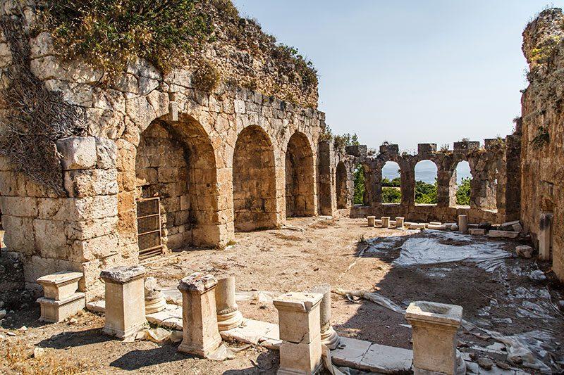 tlos antik kenti hamamlari