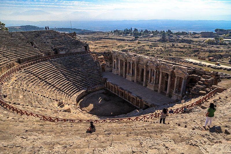 hierapolis antik kenti tiyatrosu gezisi