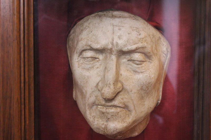 alighieri dante death mask palazza vecchio