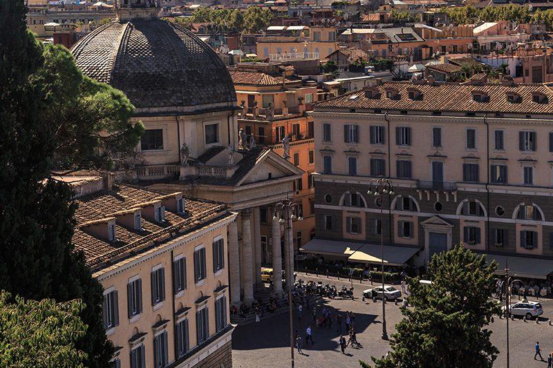 piazza del popolo roma kiliseleri