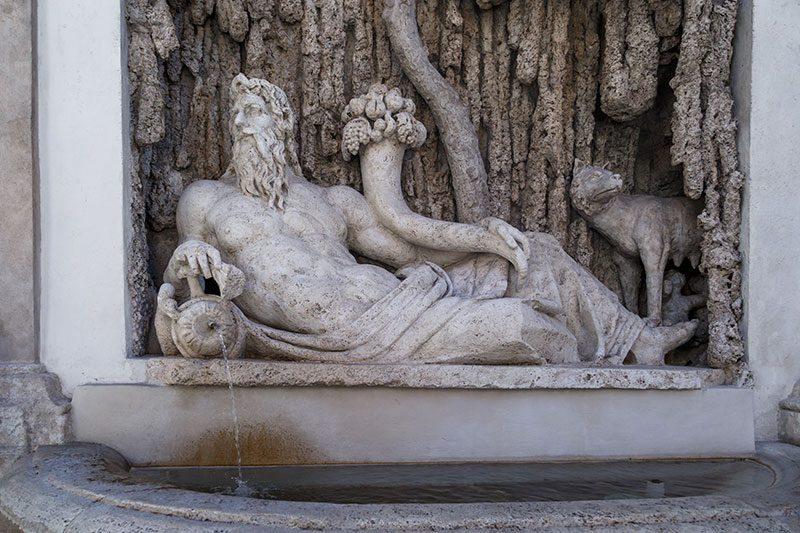 quattro fontane river tiber