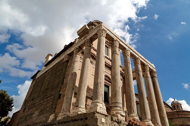 roma forum antonius faustina tapinagi