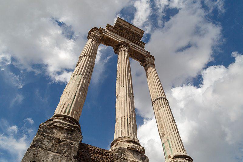 roma forum castor pollux tapinagi