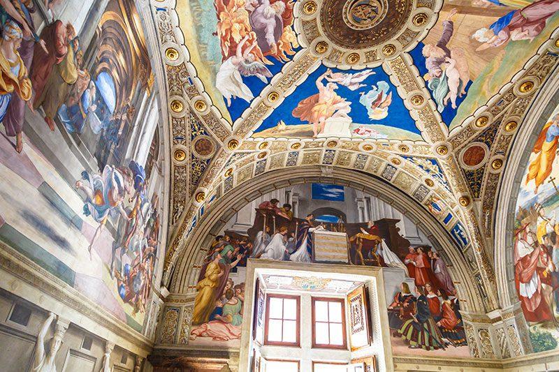 vatikan muzeleri raffael odalari