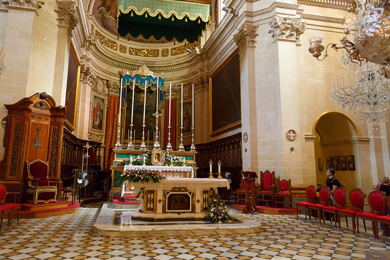 gozo katedrali ic mimarisi