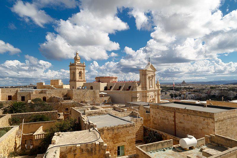 malta gozo citadel manzarasi