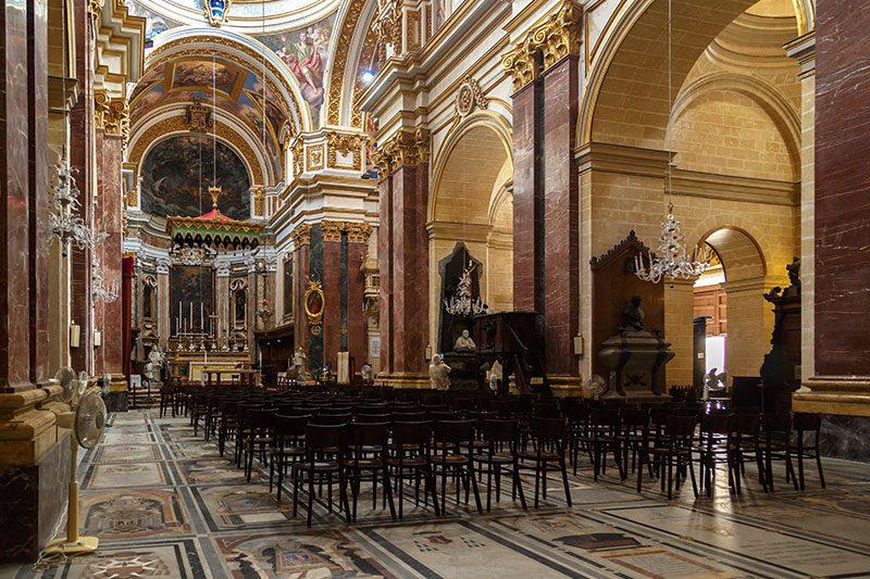 malta mdina katedrali mimarisi