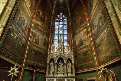 prag kalesi st vitus katedrali duvar freskleri 400x266