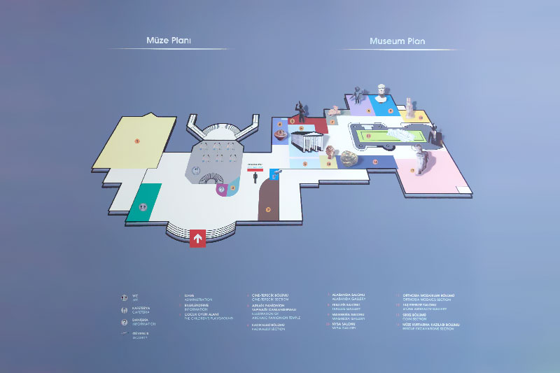 aydin arkeoloji muzesi muze plani