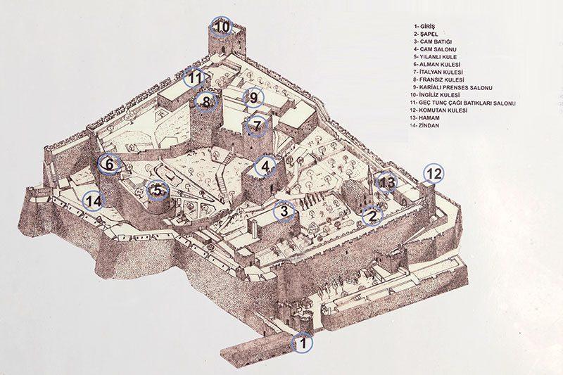 bodrum kalesi kroki haritasi