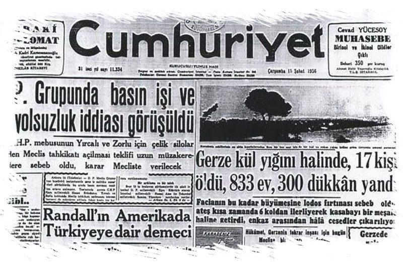 sinop gerze yangin evleri cumhuriyet gazetesi