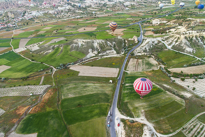 kapadokya balon gezisi manzarasi
