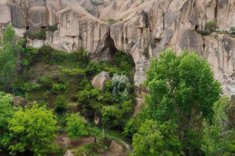 kapadokya goreme aziz barbara sapeli manzarasi