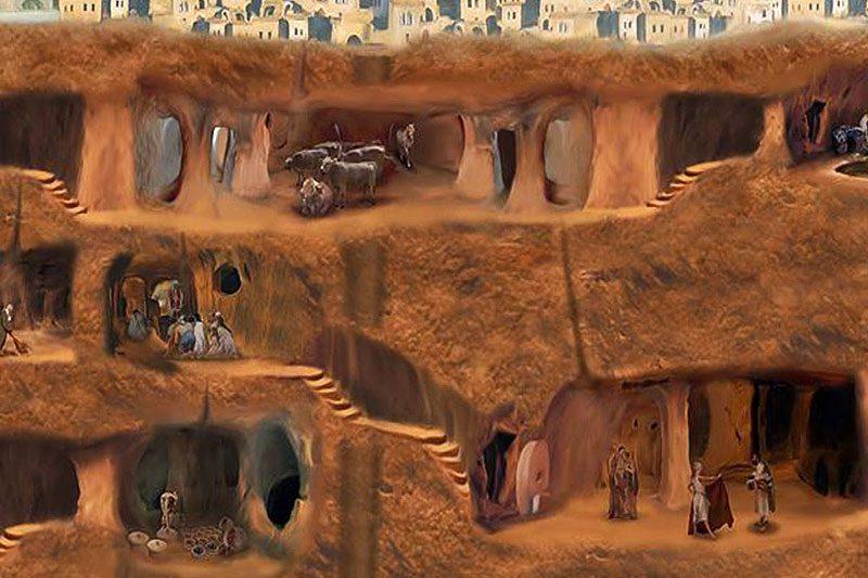 kapadokya yeralti sehirleri haritasi