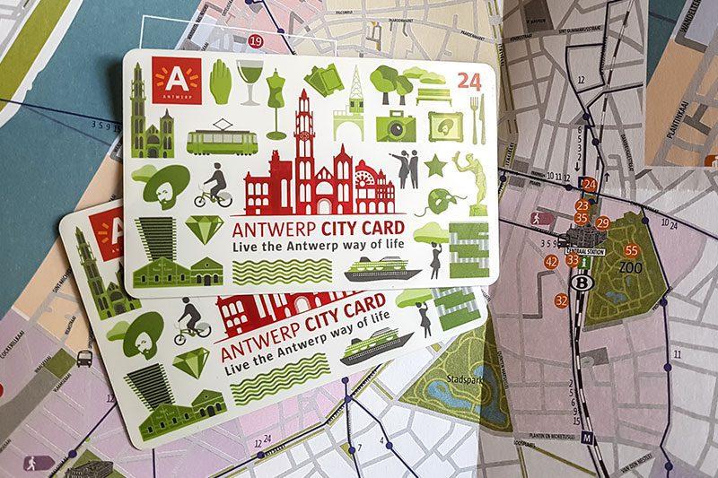 antwerp city card kitapcik harita
