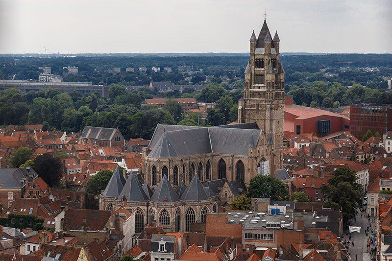 brugge belfry belfort saat kulesi kilise manzarasi