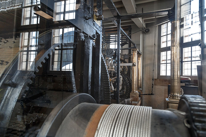 brugge belfry belfort saat kulesi mekanizmasi
