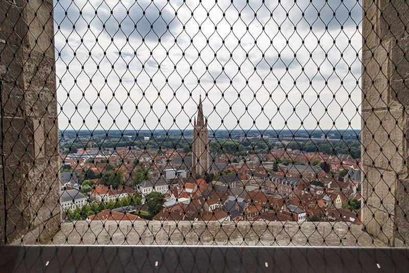 brugge belfry belfort saat kulesi panoramik manzara