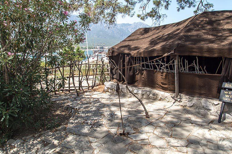 antalya kemer folklorik yoruk parki yoruk cadiri