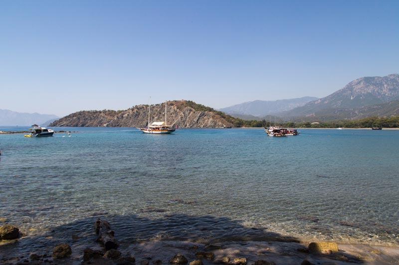 antalya phaselis antik kenti guney liman