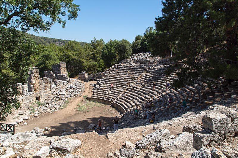 antalya phaselis antik kenti tiyatrosu
