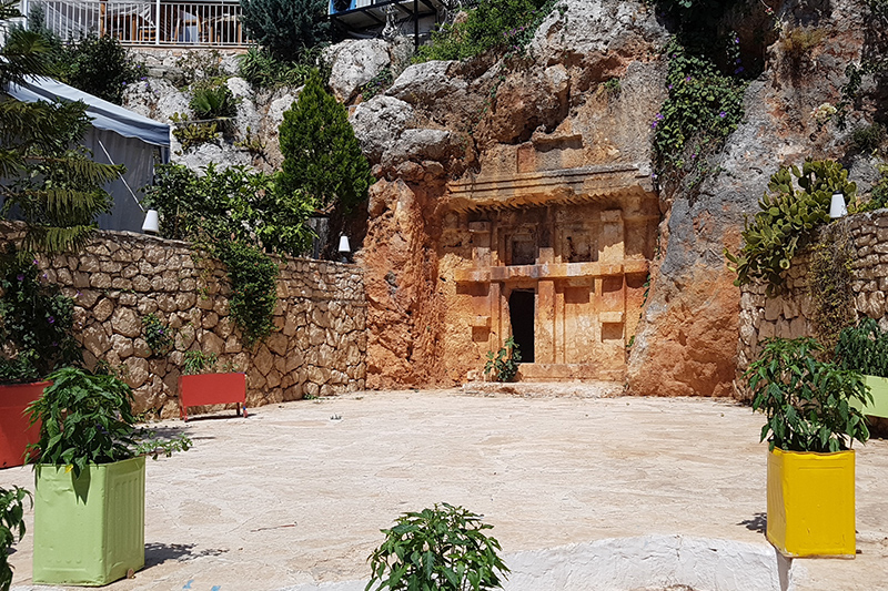 antiphellos antik kenti kaya mezarlari
