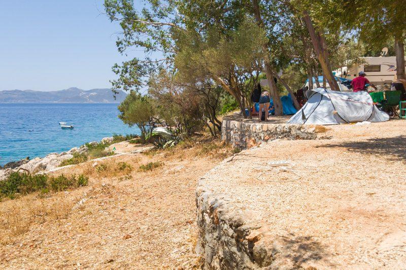 kas camping deniz kenarinda