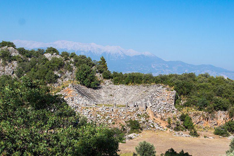 mugla pinara antik kenti tiyatrosu