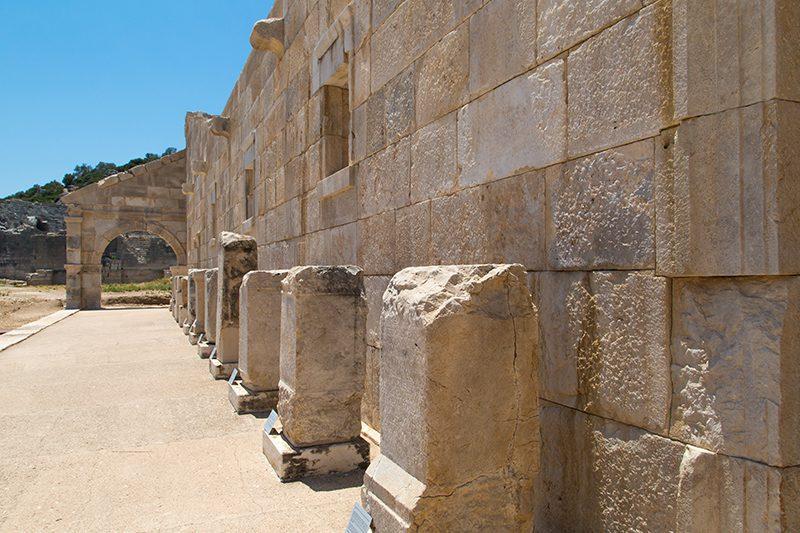 patara antik kenti odeon yazitlari
