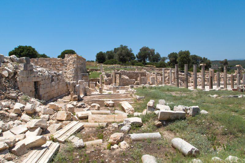 patara antik kenti sutunlu cadde