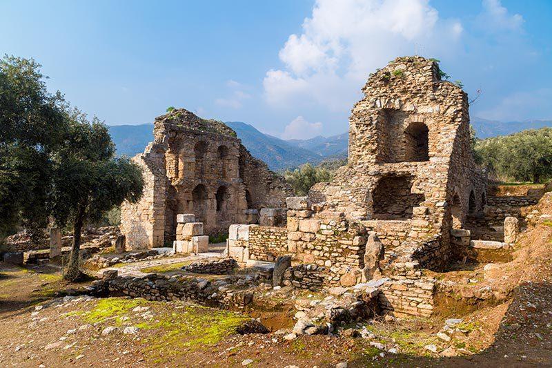 aydin nysa antik kenti kutuphanesi