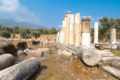 aydin nysa antik kenti sutunlu cadde seyahat 400x266